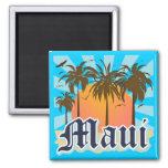 Island of Maui Hawaii Souvenir Fridge Magnets