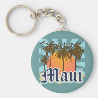 Island of Maui Hawaii Souvenir Keychain