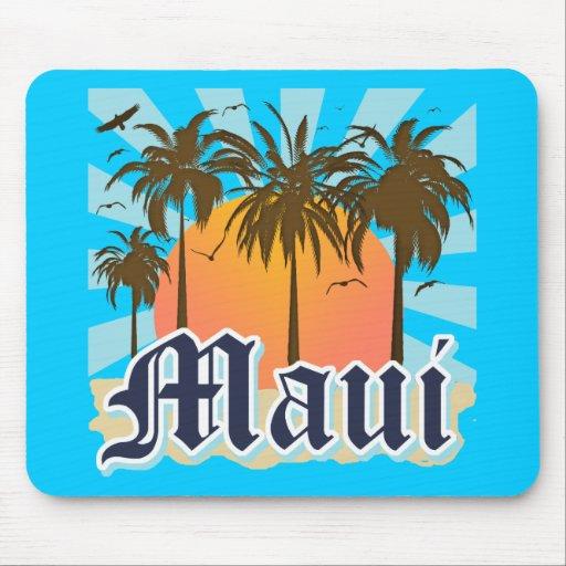 Island of Maui Hawaii Souvenir Mouse Pads