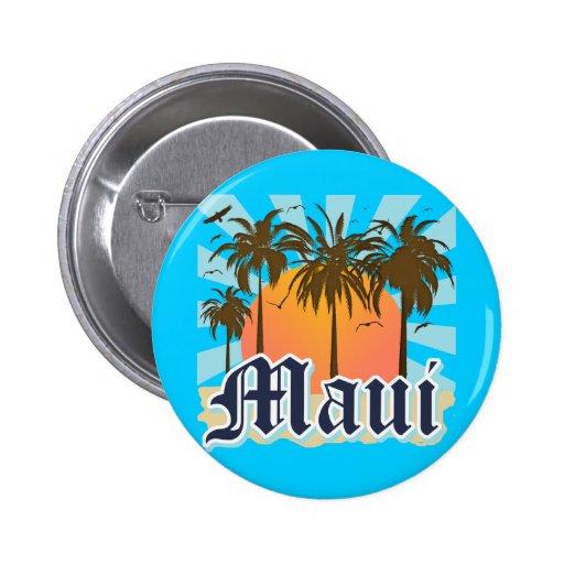 Island of Maui Hawaii Souvenir Pinback Button
