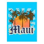 Island of Maui Hawaii Souvenir Postcard
