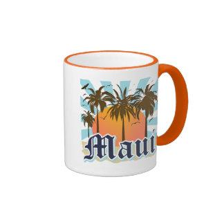 Island of Maui Hawaii Souvenir Ringer Mug