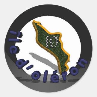 Island of oléron classic round sticker