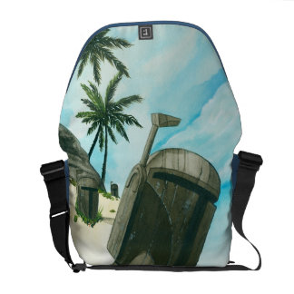 """Island of the Fett Moai"" Messenger Bag"