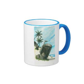 """Island of the Fett Moai"" Ringer Coffee Mug"