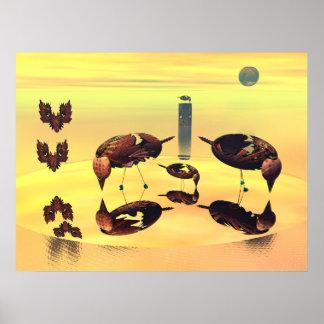 Island of vain birds poster