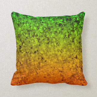ISLAND OMBRE Colorful Orange Green Stars Art Throw Pillow