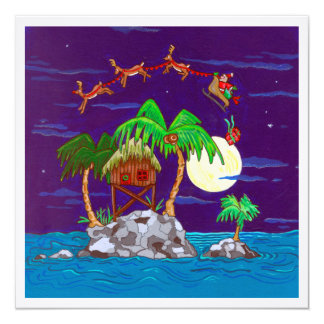 Island Package 5.25x5.25 Square Paper Invitation Card