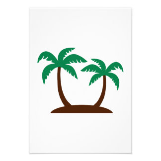 Island palm trees announcement