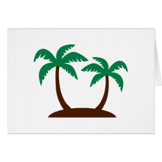 Island palm trees greeting card