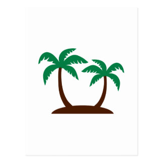 Island palm trees postcards