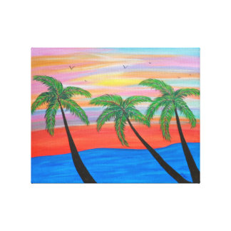 """Island Palms"" Canvas Print"
