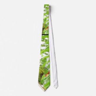 Island Palms & Parrot Tie