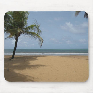 Island Paradise Beach Scene With Palm Trees Mouse Pad