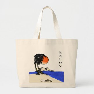 Island Paradise Beach Tote Bag