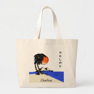 Island Paradise Beach Tote Bag