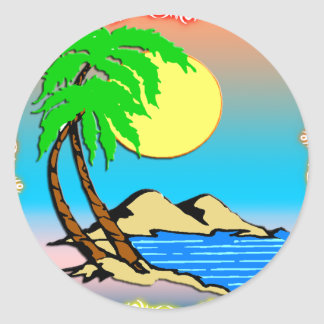 Island Paradise Classic Round Sticker
