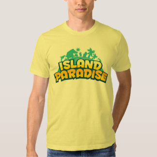 Island Paradise - Mens Yellow T-Shirt