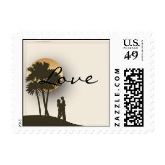 Island Paradise Postage Stamp