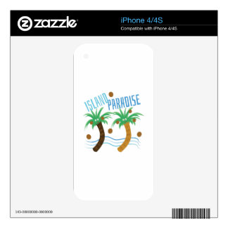 Island Paradise iPhone 4S Decals