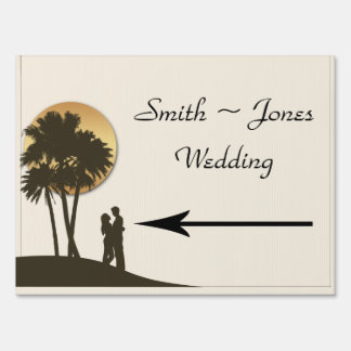Island Paradise Wedding Direction Sign