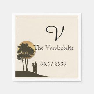 Island Paradise Wedding Paper Napkin