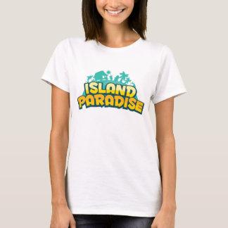 Island Paradise - Womens Yellow T-Shirt