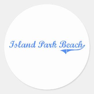 Island Park Beach New York Classic Design Classic Round Sticker
