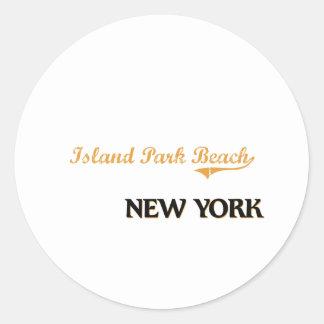 Island Park Beach New York Classic Classic Round Sticker