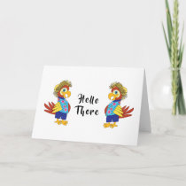 Island Parrot Hello There Greeting Card