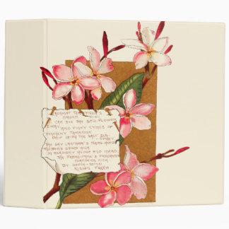 Island Plumeria Flowers Blossoms Bermuda Poems Binder