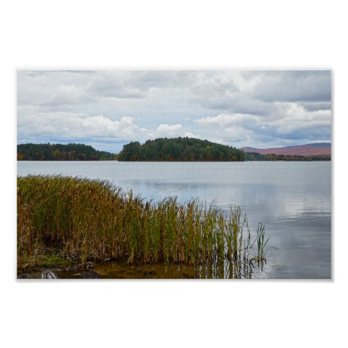 Island Pond, Vermont, in Autumn Poster