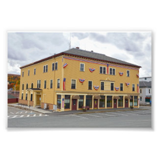 Island Pond, Vermont, Public Library and Town Hall Photo Print