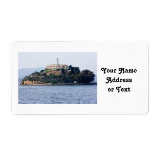 Island Prison, Alcatraz Personalized Shipping Labels