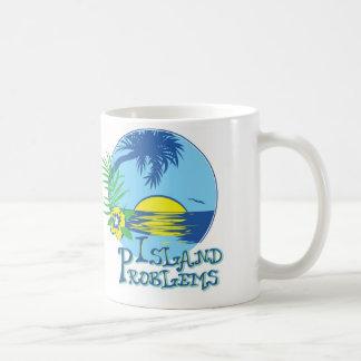 Island Problems Coffee Mug Blue