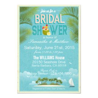 Island Resort Beach Destination Bridal Shower Card