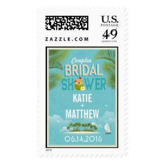 Island Resort Beach Destination Bridal Shower Postage