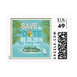 Island Resort Beach Destination Save the Date Stamp