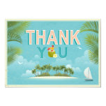 Island Resort Beach Destination Thank You Card