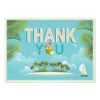 Island Resort Beach Destination Thank You Card