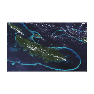 Island Rim of Turquoise Canvas Print