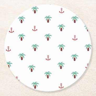 Beach Themed island round paper coaster