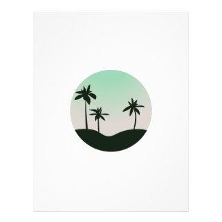 Island Scene Customized Letterhead