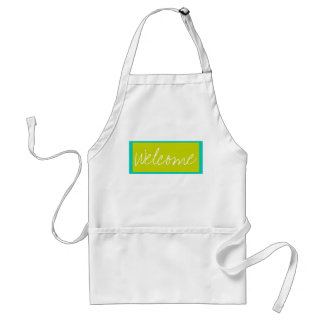Island Sea and Lime Stripe Personalized Adult Apron