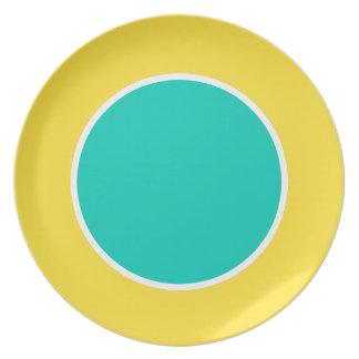 Island Sea on Banana Yellow Single Dot Plate