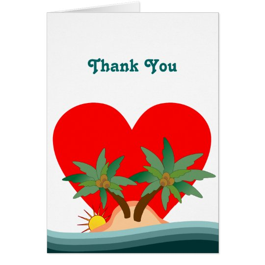Island Style Thank You Card