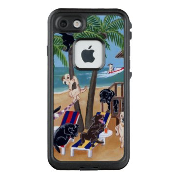 Beach Themed Island Summer Vacation Labradors 2 iPhone Case