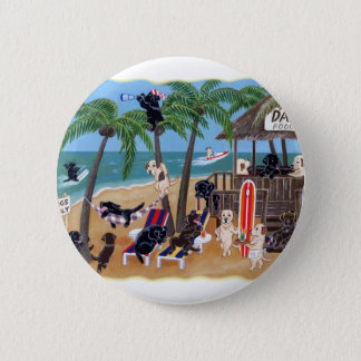 Island Summer Vacation Labradors Button