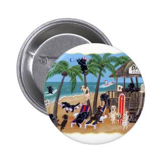 Island Summer Vacation Labradors Button