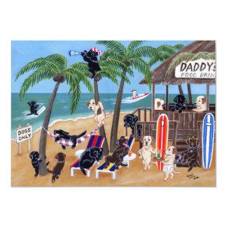 Island Summer Vacation Labradors Card